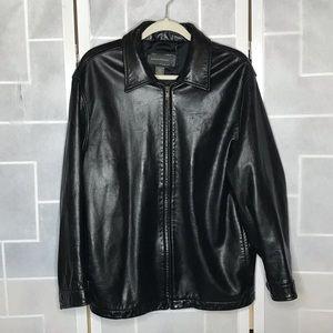 💥 Banana Republic black leather jacket L